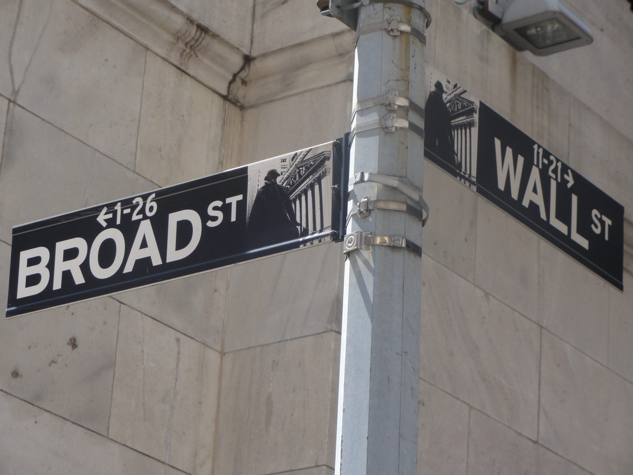Broad Street sign, New York City