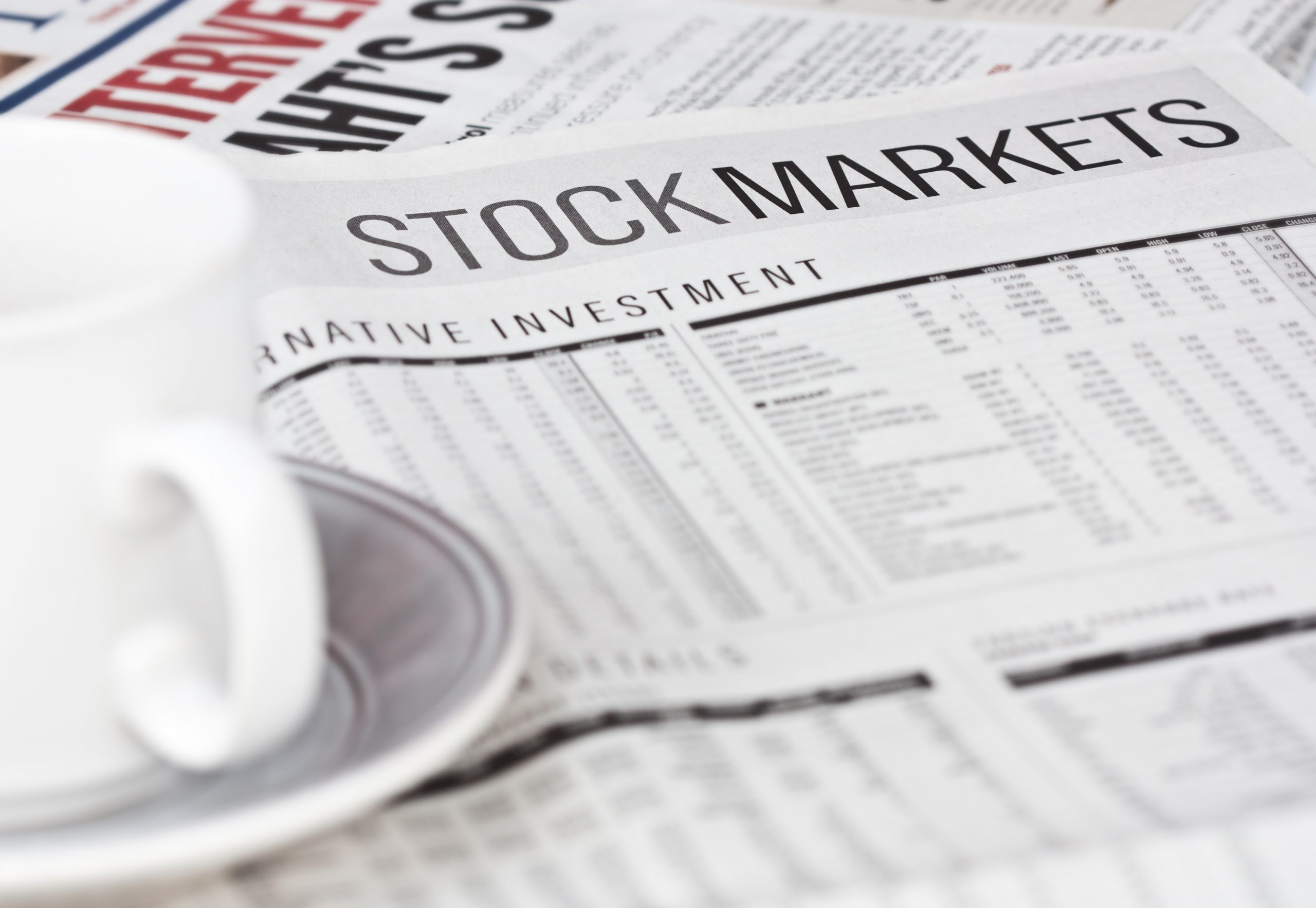Stock markets newspaper